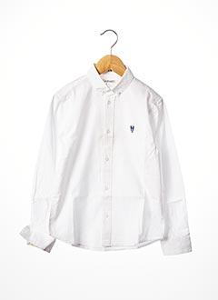 Chemise manches longues blanc BILLYBANDIT pour garçon