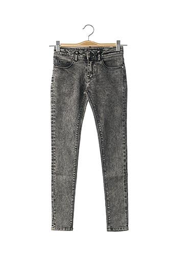 Jeans coupe slim noir SORRY 4 THE MESS pour garçon
