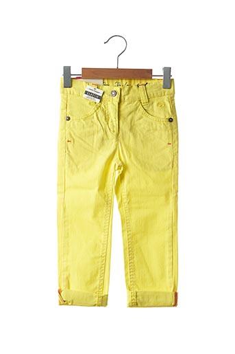 Pantalon casual jaune TOM TAILOR pour fille