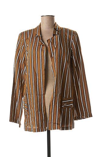 Veste casual marron MADO ET LES AUTRES pour femme
