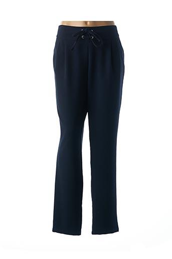 Pantalon chic bleu JULIE GUERLANDE pour femme