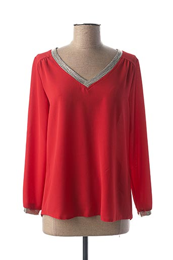 Blouse manches longues rouge CHARMING GIRL pour femme