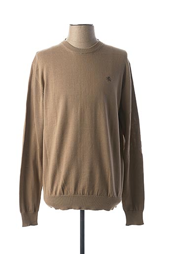 Pull col rond beige KITARO pour homme
