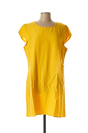 Robe courte jaune CHRISTY pour femme