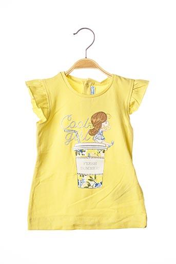 T-shirt manches courtes jaune MAYORAL pour fille