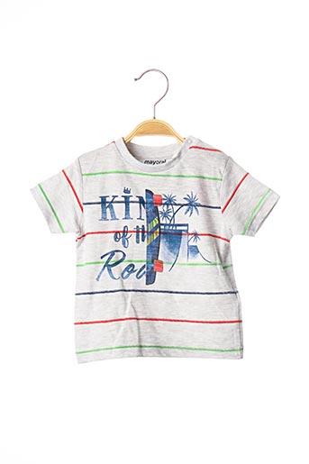T-shirt manches courtes gris MAYORAL pour garçon