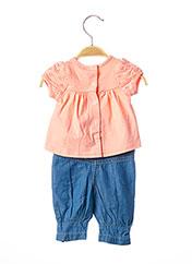 Top/pantalon rose 3 POMMES pour fille seconde vue