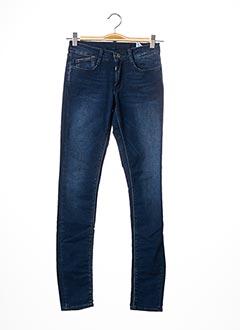 Jeans skinny bleu LE TEMPS DES CERISES pour fille