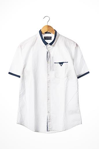 Chemise manches courtes blanc NUKUTAVAKE pour garçon