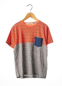 T-shirt manches courtes gris JN-JOY pour garçon