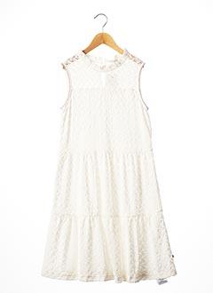 Robe mi-longue blanc LE TEMPS DES CERISES pour fille