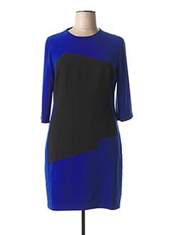 Robe mi-longue bleu EXALTATION pour femme