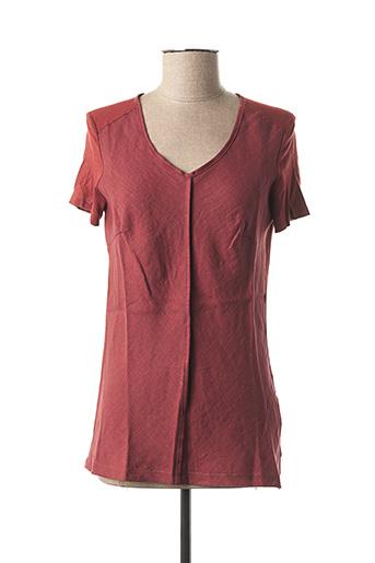 T-shirt manches courtes marron POUSSIERE D'ETOLE pour femme