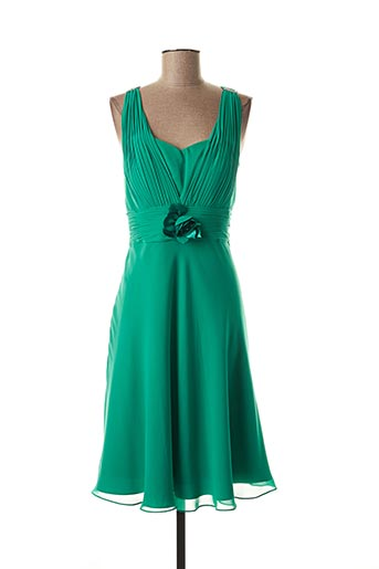 Robe mi-longue vert CREATIF PARIS pour femme
