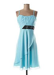 Robe mi-longue bleu CREATIF PARIS pour femme seconde vue
