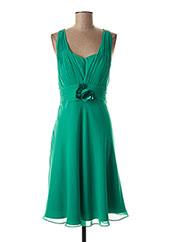 Robe mi-longue vert CREATIF PARIS pour femme seconde vue