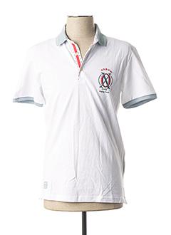 Polo manches courtes blanc OXBOW pour homme
