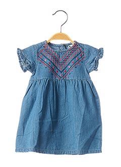Robe mi-longue bleu 3 POMMES pour fille