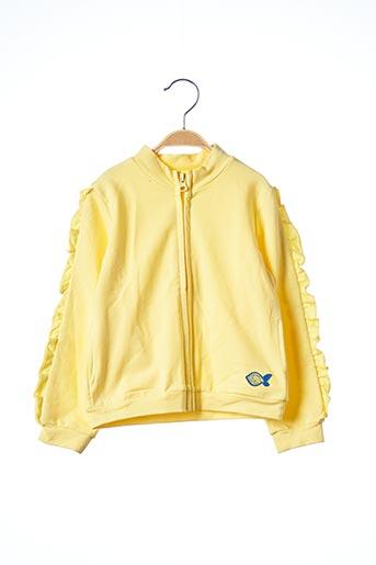 Veste casual jaune 3 POMMES pour fille