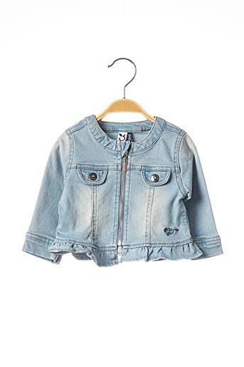 Veste en jean bleu 3 POMMES pour fille