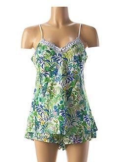 Pyjashort vert LISE CHARMEL pour femme