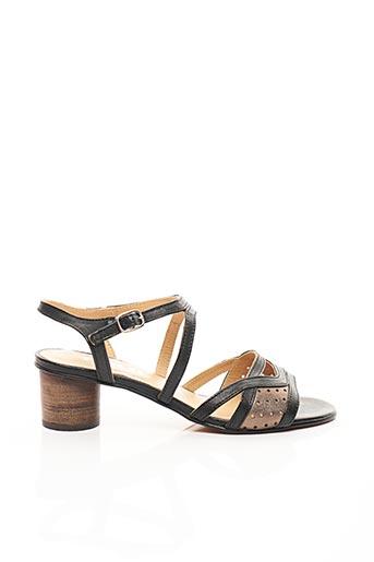 Sandales/Nu pieds noir FIDJI pour femme