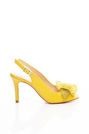 Escarpins jaune SACHA LONDON pour femme