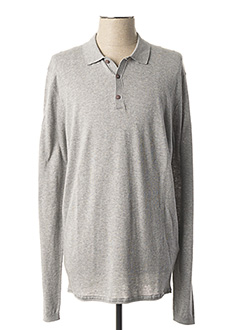Pull col chemisier gris DSTREZZED pour homme