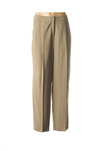 Pantalon casual vert AMERICAN VINTAGE pour femme