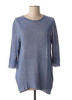 Pull tunique bleu GIULIA B. pour femme