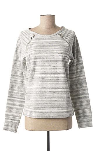 Sweat-shirt gris IMITZ pour femme
