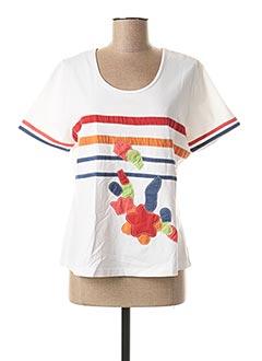 T-shirt manches courtes blanc FIGURE LIBRE pour femme