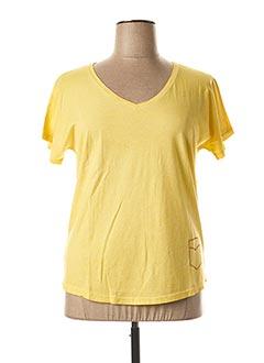 T-shirt manches courtes jaune FLEUR DE SEL pour femme