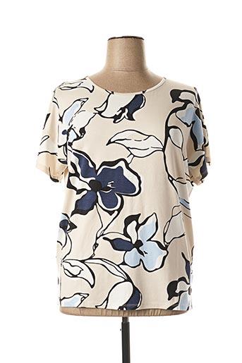 T-shirt manches courtes beige IMITZ pour femme