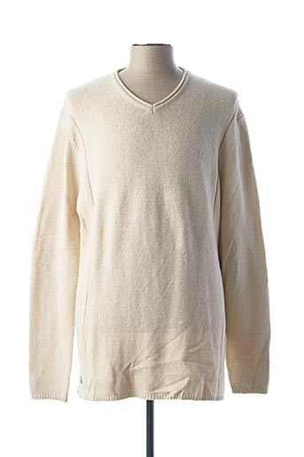 Pull col V beige OXBOW pour homme