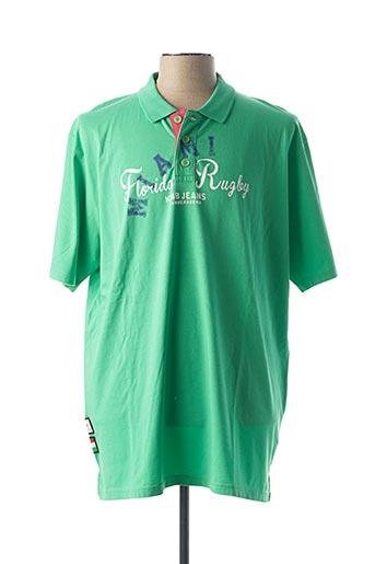Polo manches courtes vert CAMBERABERO pour homme