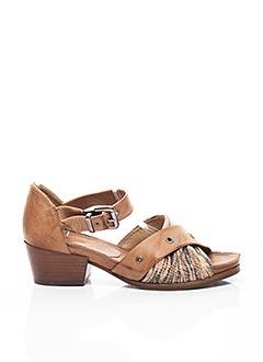 Sandales/Nu pieds marron DKODE pour femme