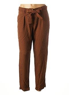 Pantalon 7/8 marron 1 2 3 pour femme