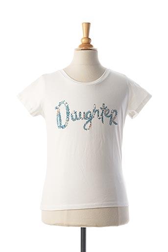 T-shirt manches courtes blanc MAISON 123 pour fille