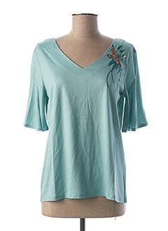 T-shirt manches longues bleu 1 2 3 pour femme