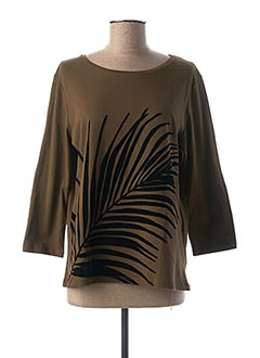 T-shirt manches longues vert 1 2 3 pour femme