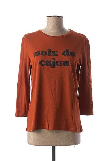 T-shirt manches longues marron MAISON 123 pour femme