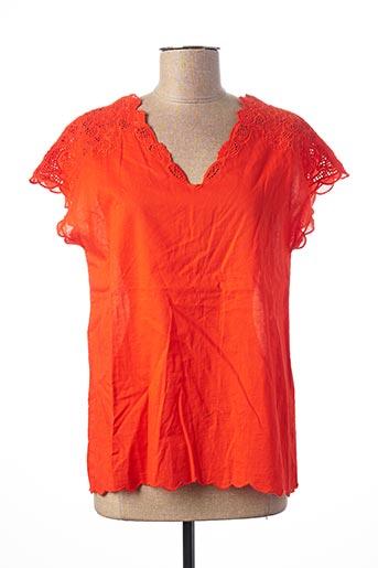 Top orange MAISON 123 pour femme