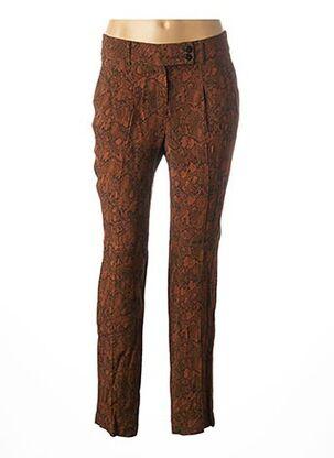 Pantalon chic marron MAISON 123 pour femme