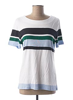 T-shirt manches courtes bleu 1 2 3 pour femme
