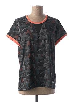 T-shirt manches courtes noir 1 2 3 pour femme