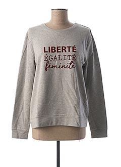 Sweat-shirt gris 1 2 3 pour femme
