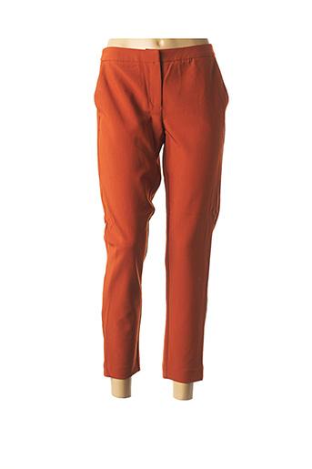 Pantacourt citadin orange ONLY pour femme