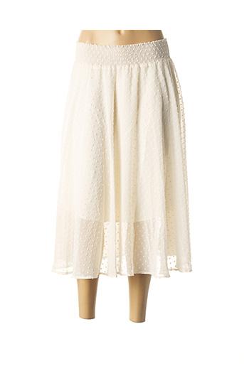 Jupe mi-longue blanc SCHOOL RAG pour femme