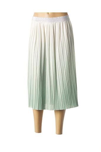 Jupe mi-longue vert ONLY pour femme